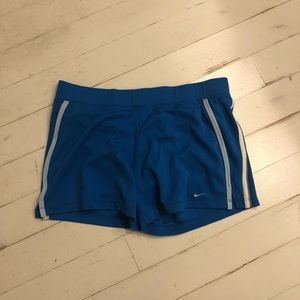 Nike fit dry royal blue workout shorts